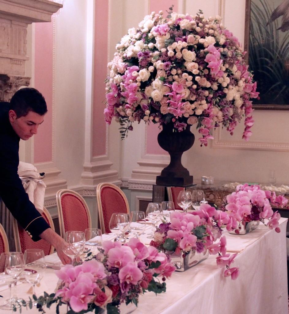 Neill Strain wedding flowers at the Ritz Hotel, London