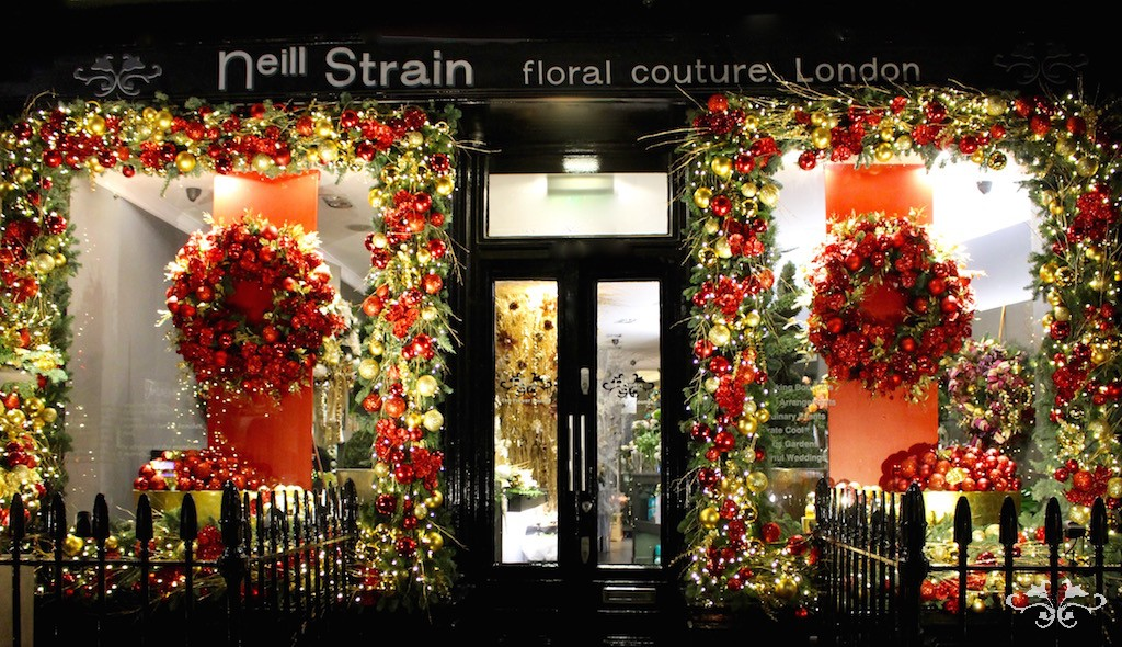 The Flower Lounge dressed for Christmas