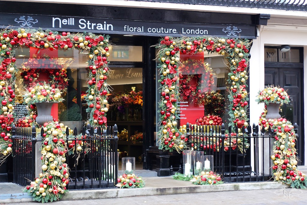 Red, gold and glitz were the inspirations Neill brought back from a recent visit to New York