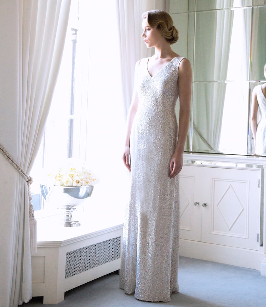 """The """"Alaia' Ivory Swarovski Encrusted Bridal Gown €5995 inspires classic, noble flowers such as the Rose."""