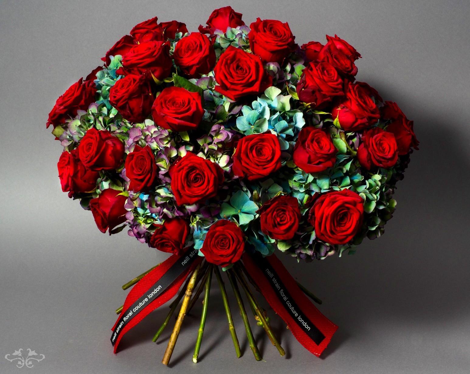 Neill Strain luxury Valentine's Day bouquet