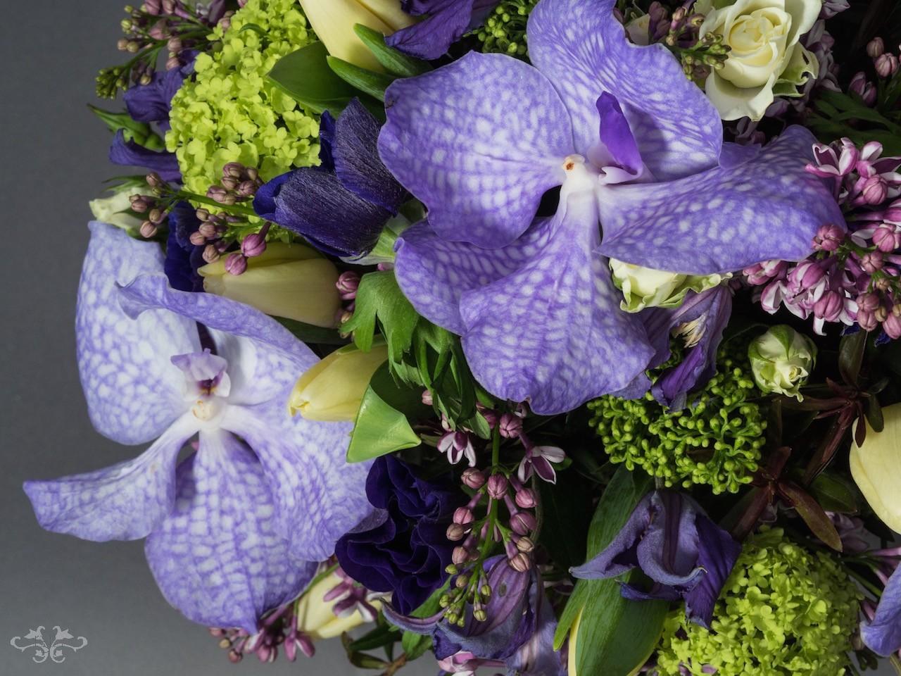 Detail of Neill Strain blue Valentines bouquet.jpg
