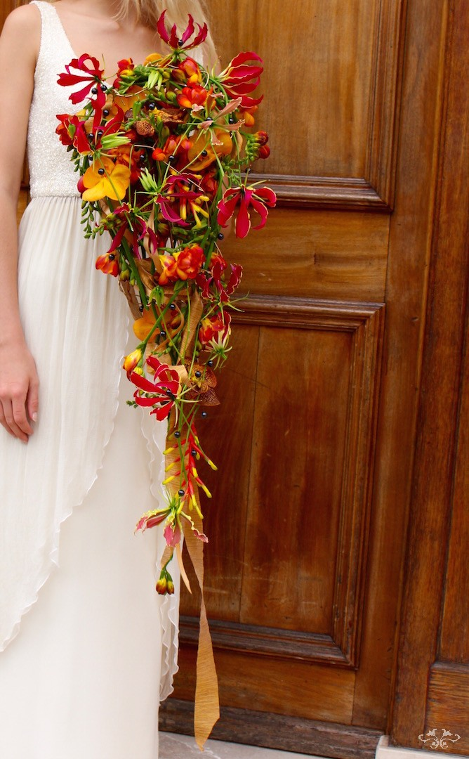 Opulent bridal bouquets by Neill Strain