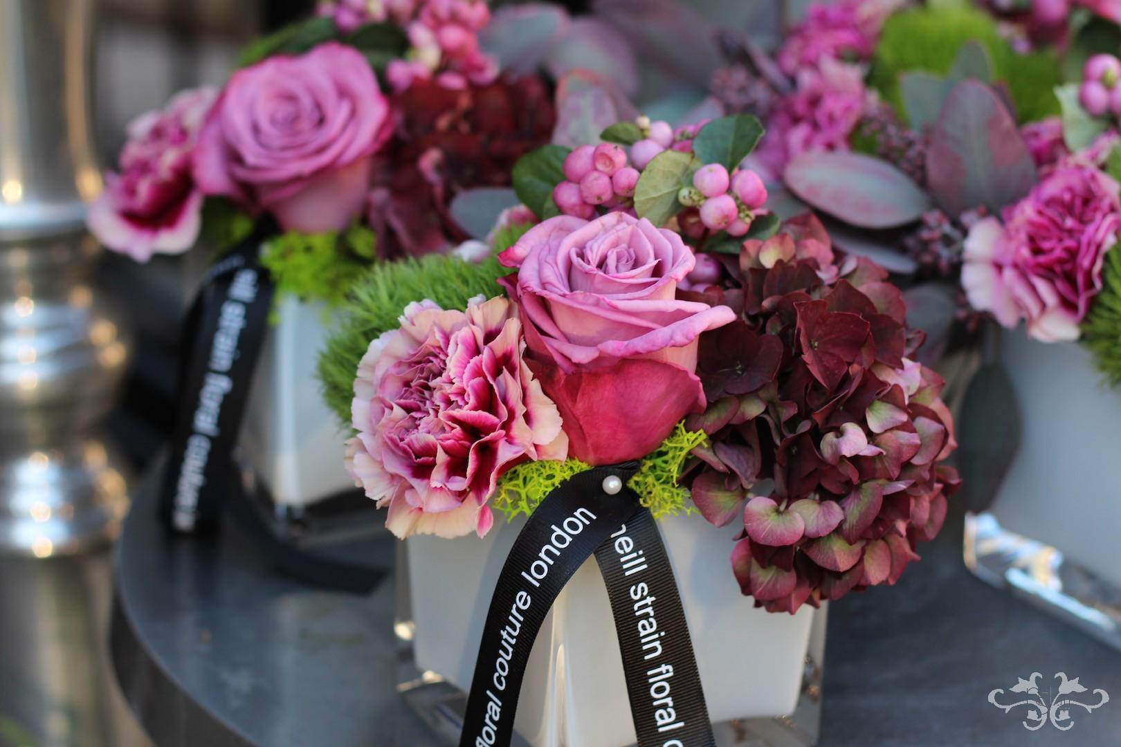 Thanksgiving floral arrangements Neill Strain Belgravia Knightsbridge