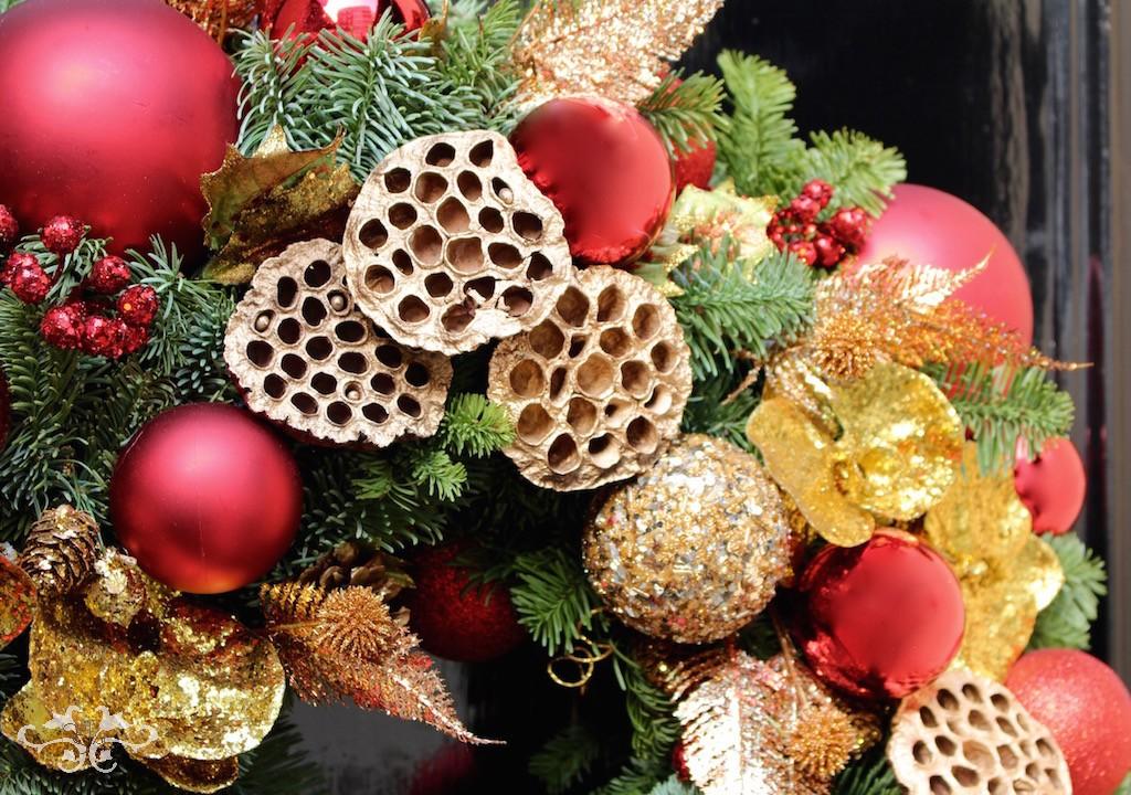 Neill Strain Floral Couture Door Wreaths, lavishly festive for the season