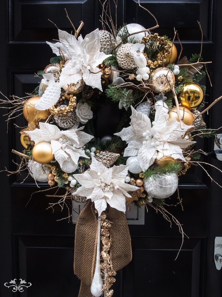Luxury door wreaths and seasonal decorations designed and installed by Neill Strain Floral Couture London