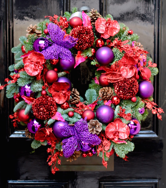 Christmas at Neill Strain Floral Couture London in Belgravia