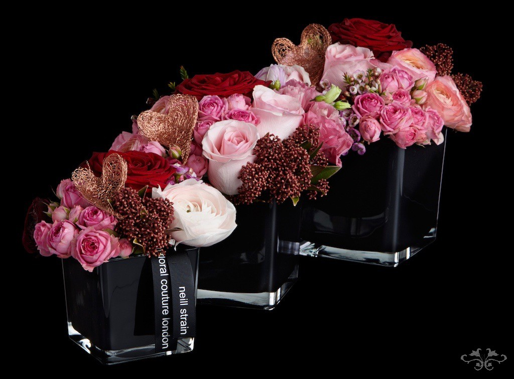 Petite Couture arrangements for Valentine's Day can be ordered on-line.