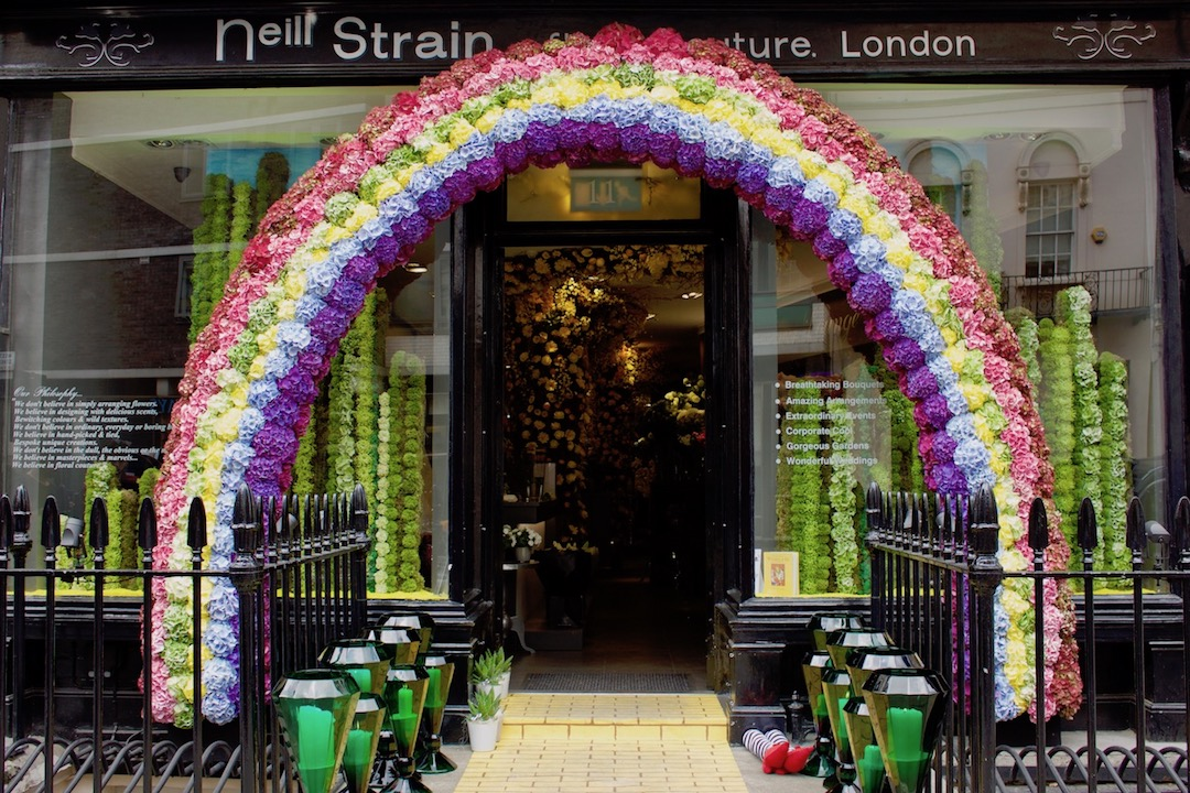 "Neill Strain Floral Couture won overall ""Best Floral Display"" for its ""Wonderful Wizard of Oz"" themed design for Belgravia In Bloom."