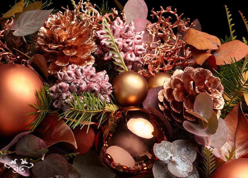 Contemporary Christmas styling by Neill Strain London