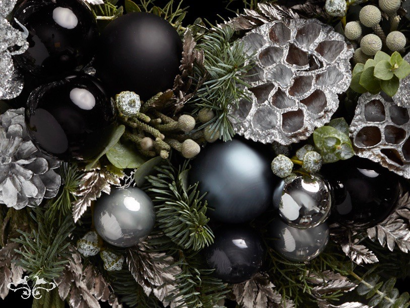 Christmas wreaths and floral arrangements Neill Strain Floral Couture London