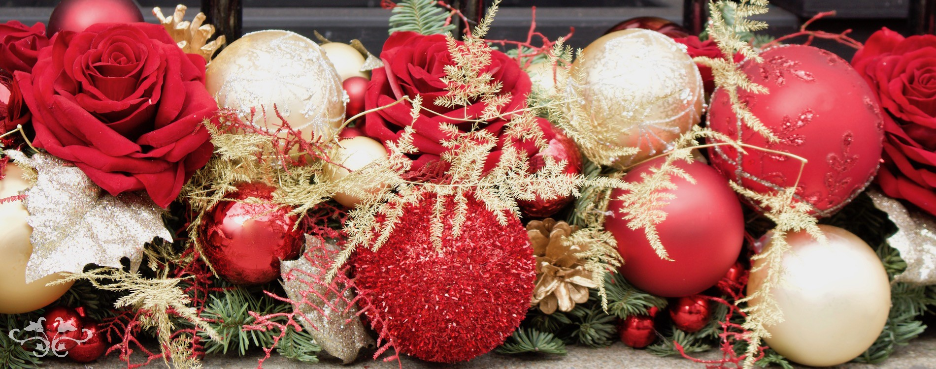 Luxury Christmas decor by Neill Strain Floral Couture London