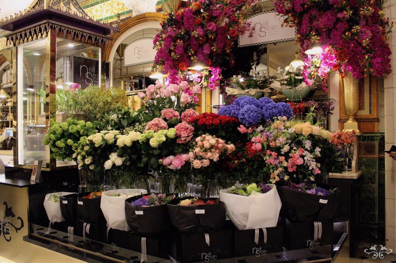 Neill Strain Floral Couture concession at Harrods