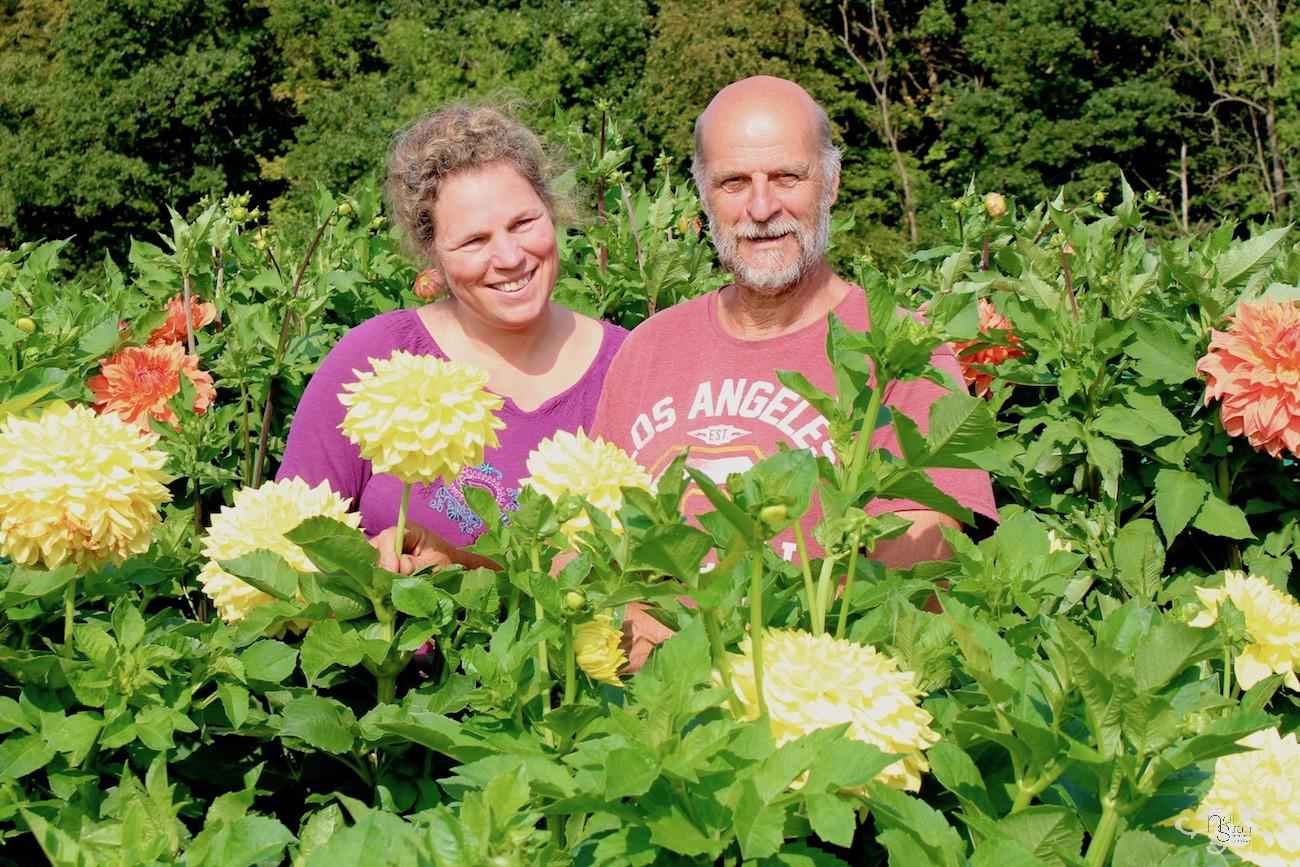 Jan and Elly Geerlings in the Heemstede Garden Showroom