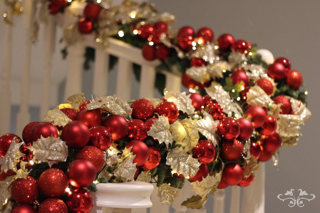 Neill Strain Christmas garland on bannisters.jpg