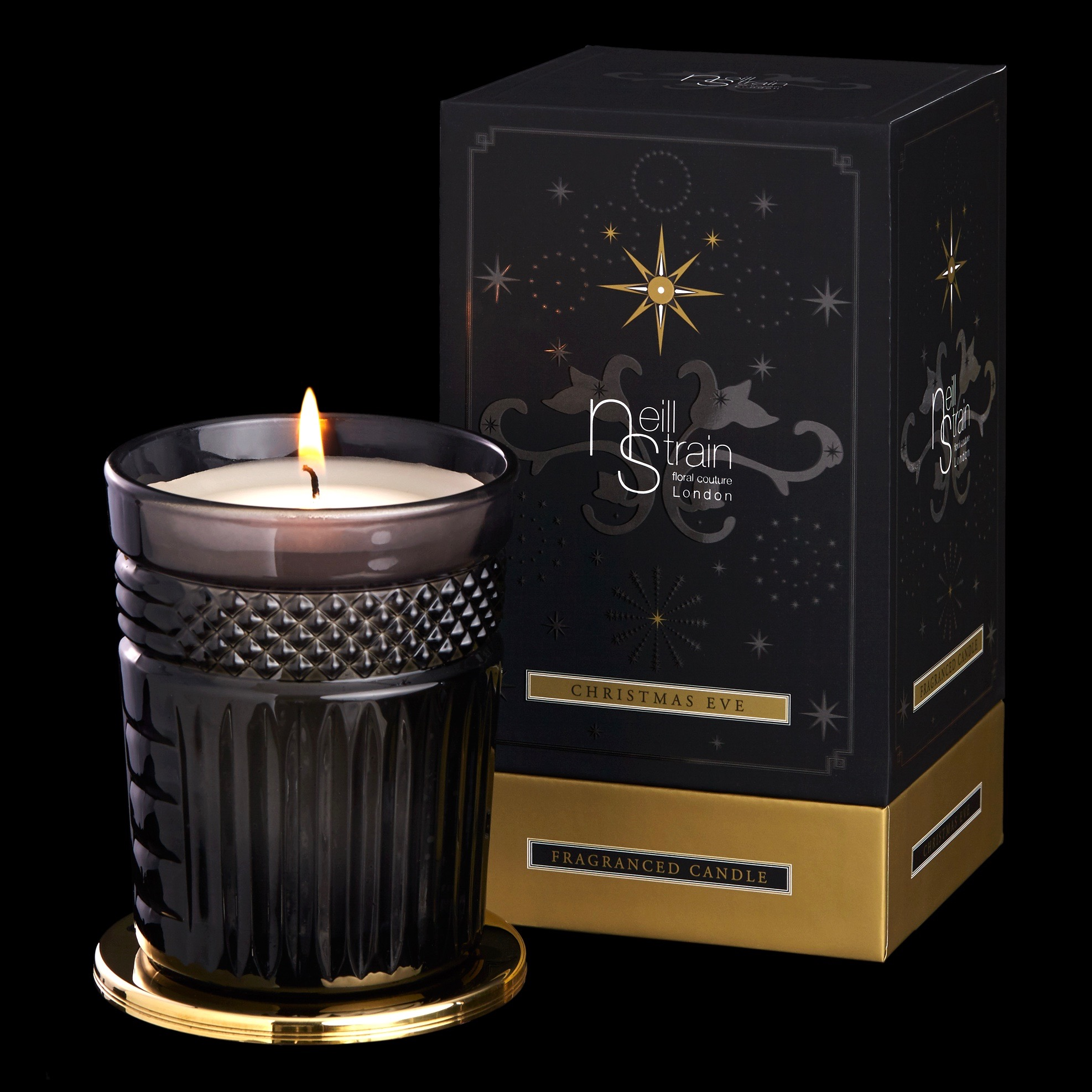 Neill Strain Floral Couture Candle Christmas Eve
