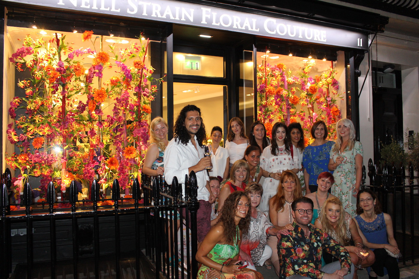 The Neill Strain Floral Couture team celebrating the 10th anniversary of the business.