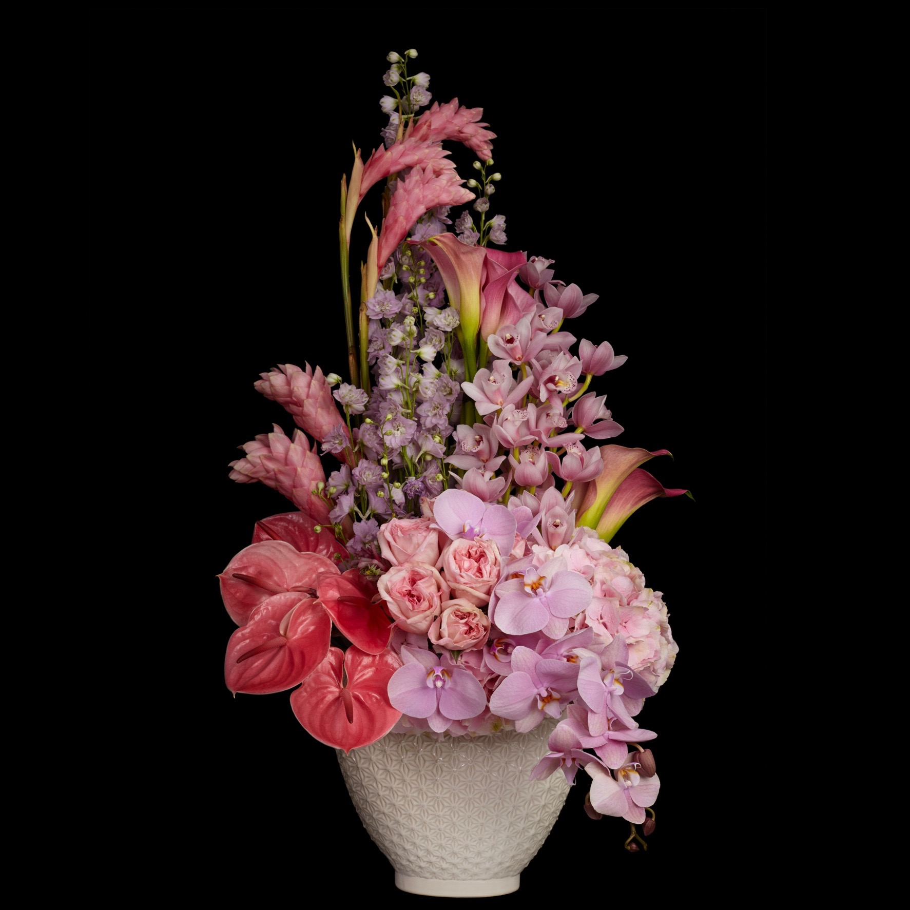 Sloane Tall Arrangement in pink by Neill Strain Floral Couture
