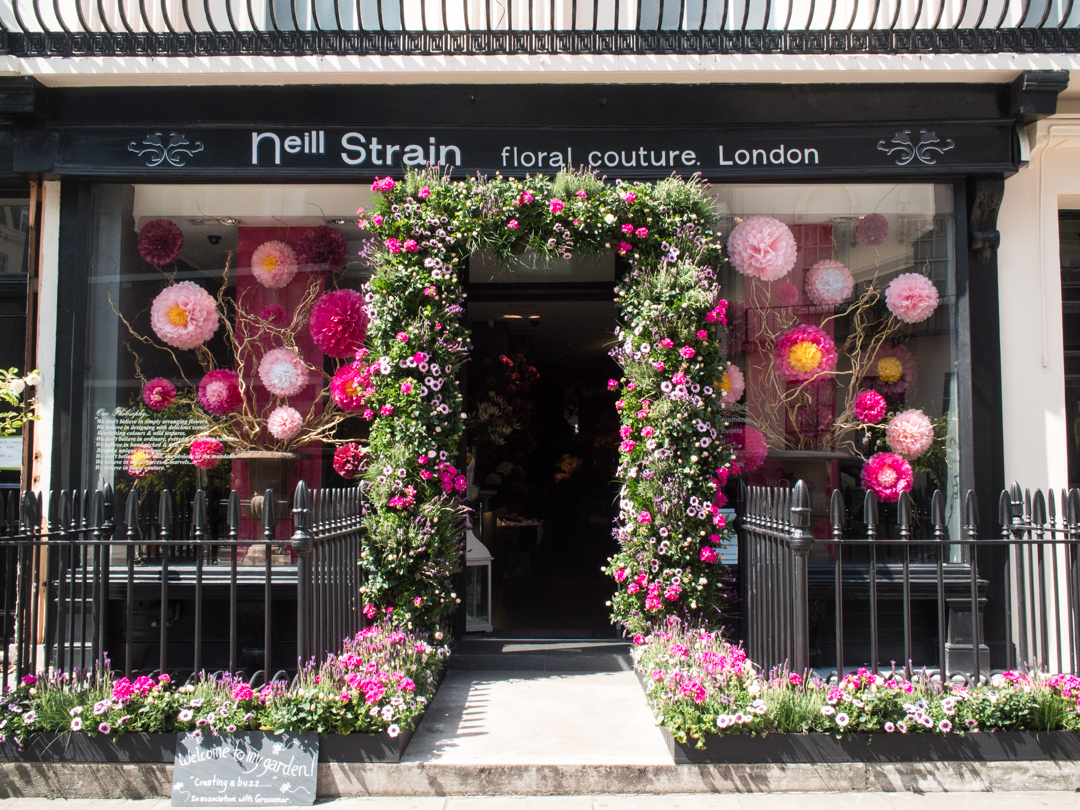 Neill Strain Floral Couture Belgravia boutique dressed for RHS Chelsea 2014