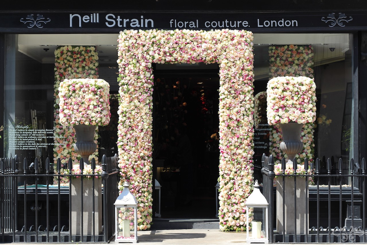 Neill Strain Floral Couture dressed in Roses for RHS Chelsea Flower Show 2015