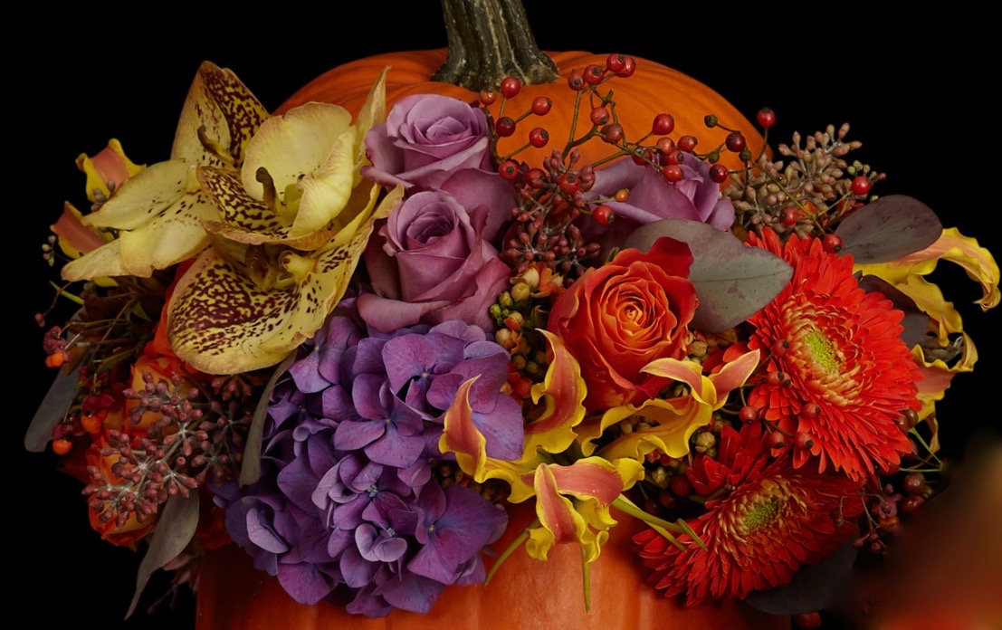 Halloween & Thanksgiving florals by Neill Strain Floral Couture Belgravia London