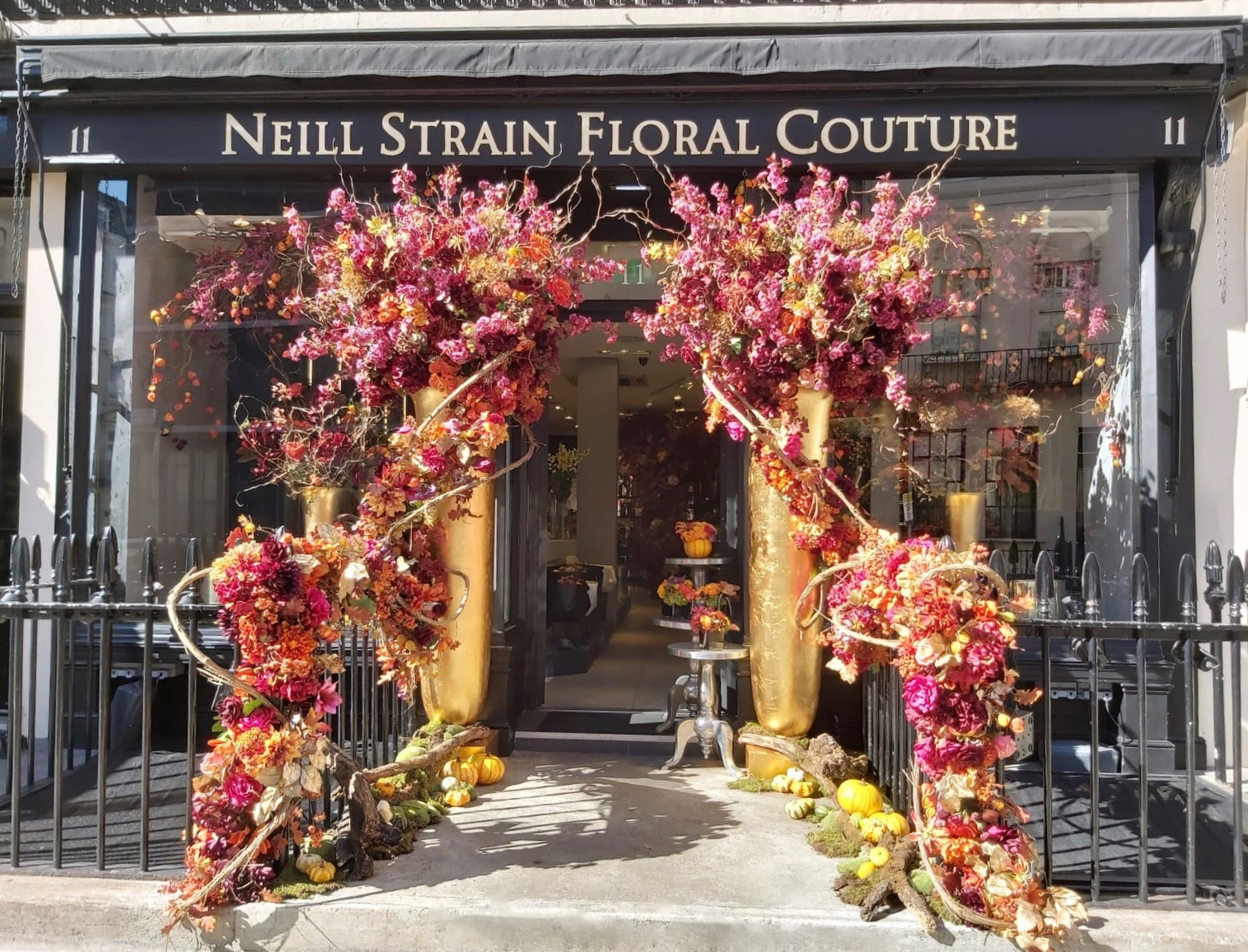 Autumn has arrived at Neill Strain Floral Couture in Belgravia