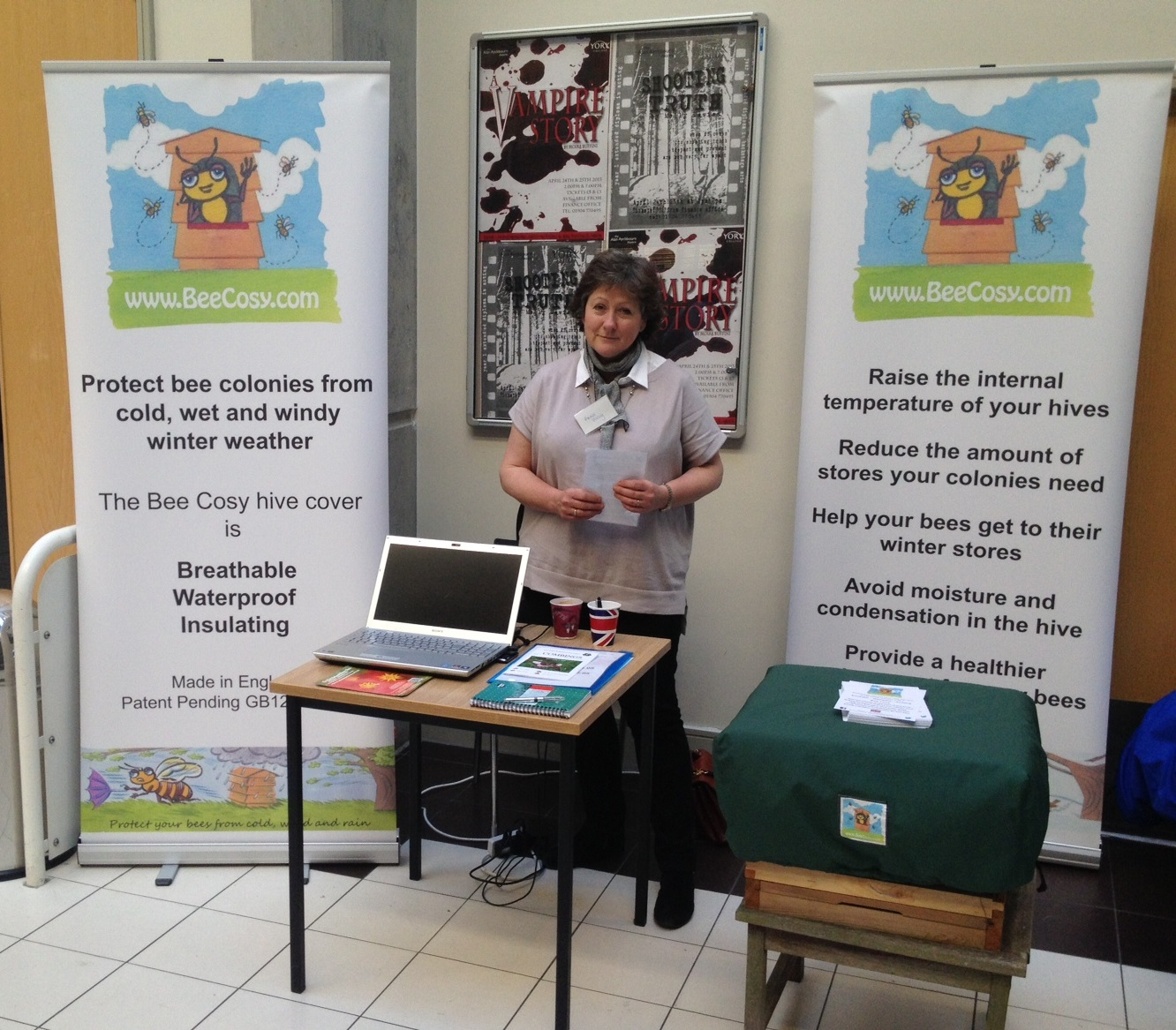 Bee Cosy stand - Yorkshire BKA Conference
