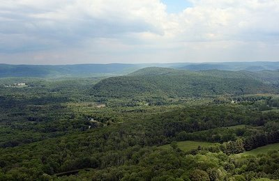 View from Lion's Head Lookout on the Appalachian Trail, looking south over the town of Salisbury, Connecticut