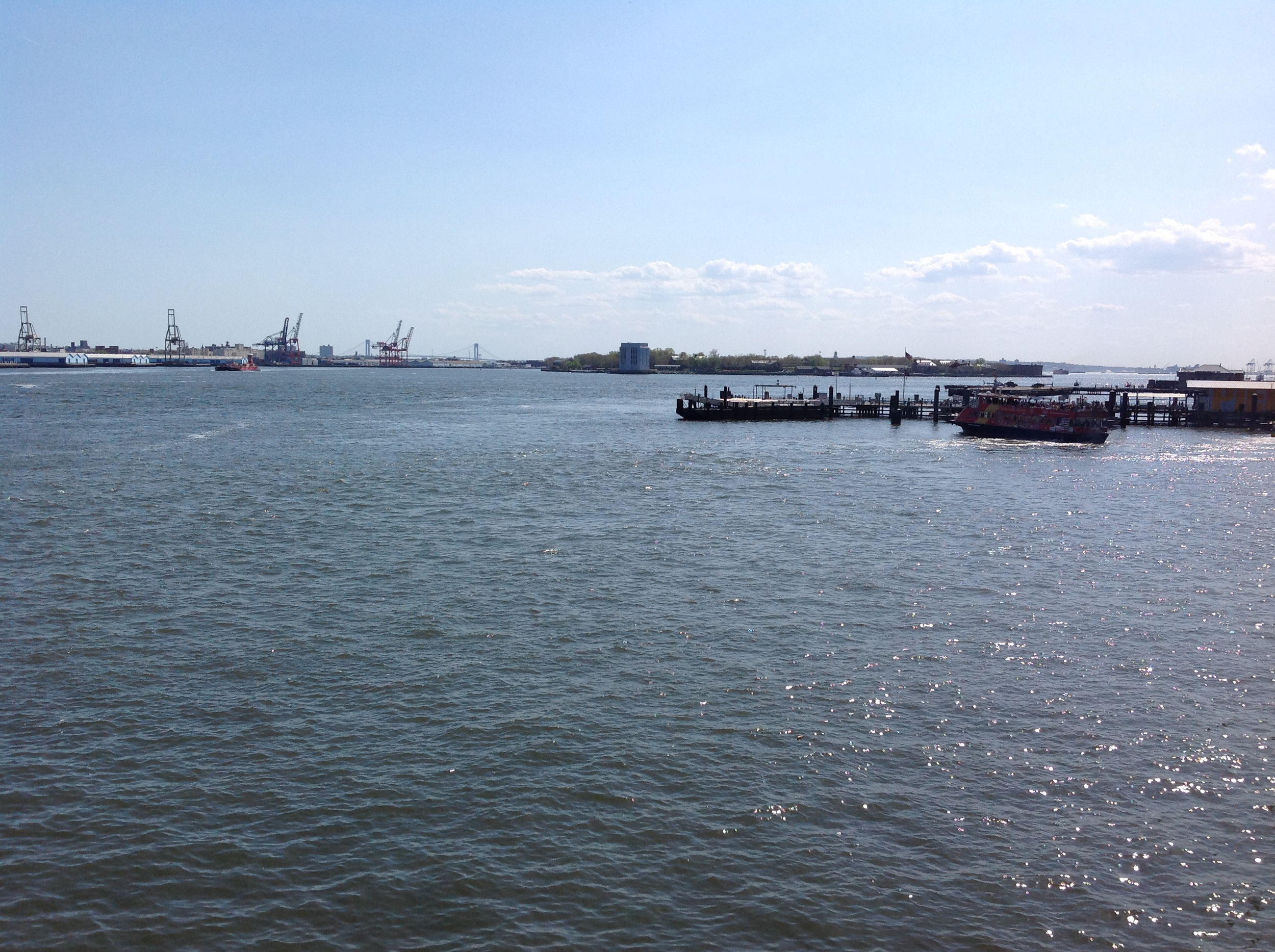 view toward lower new york bay from south street seaport, may 2015