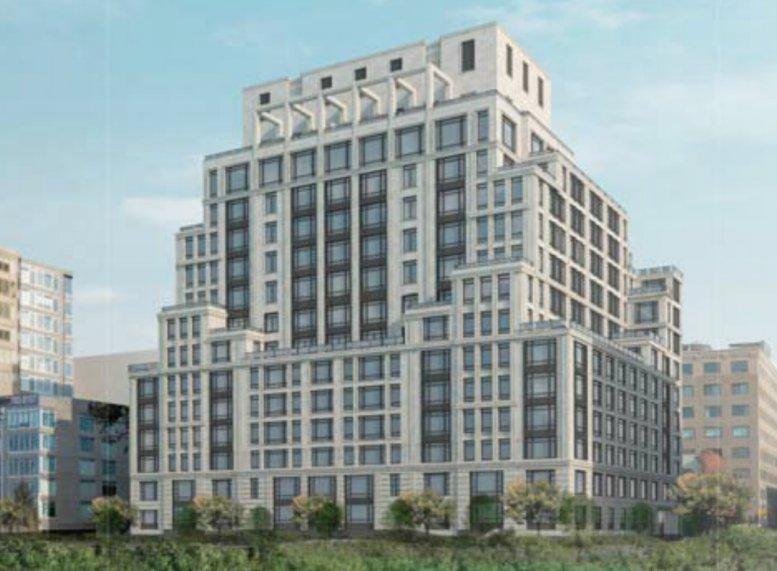 Rendering of future 70 Vestry Street, Tribeca, New York City
