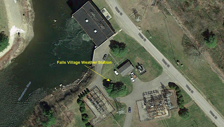 Falls Village aerial view