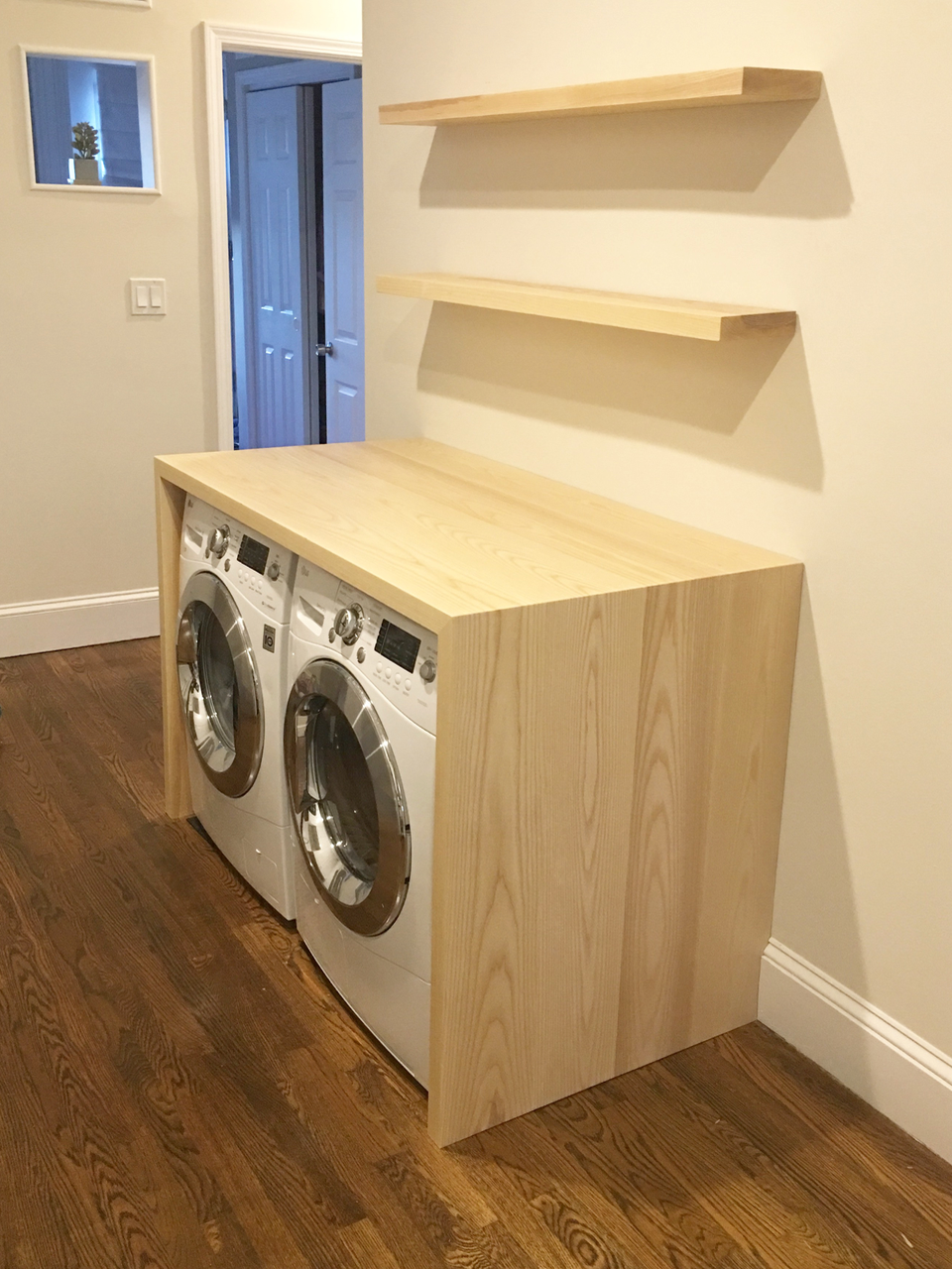 Laundry Counter and Shelves -