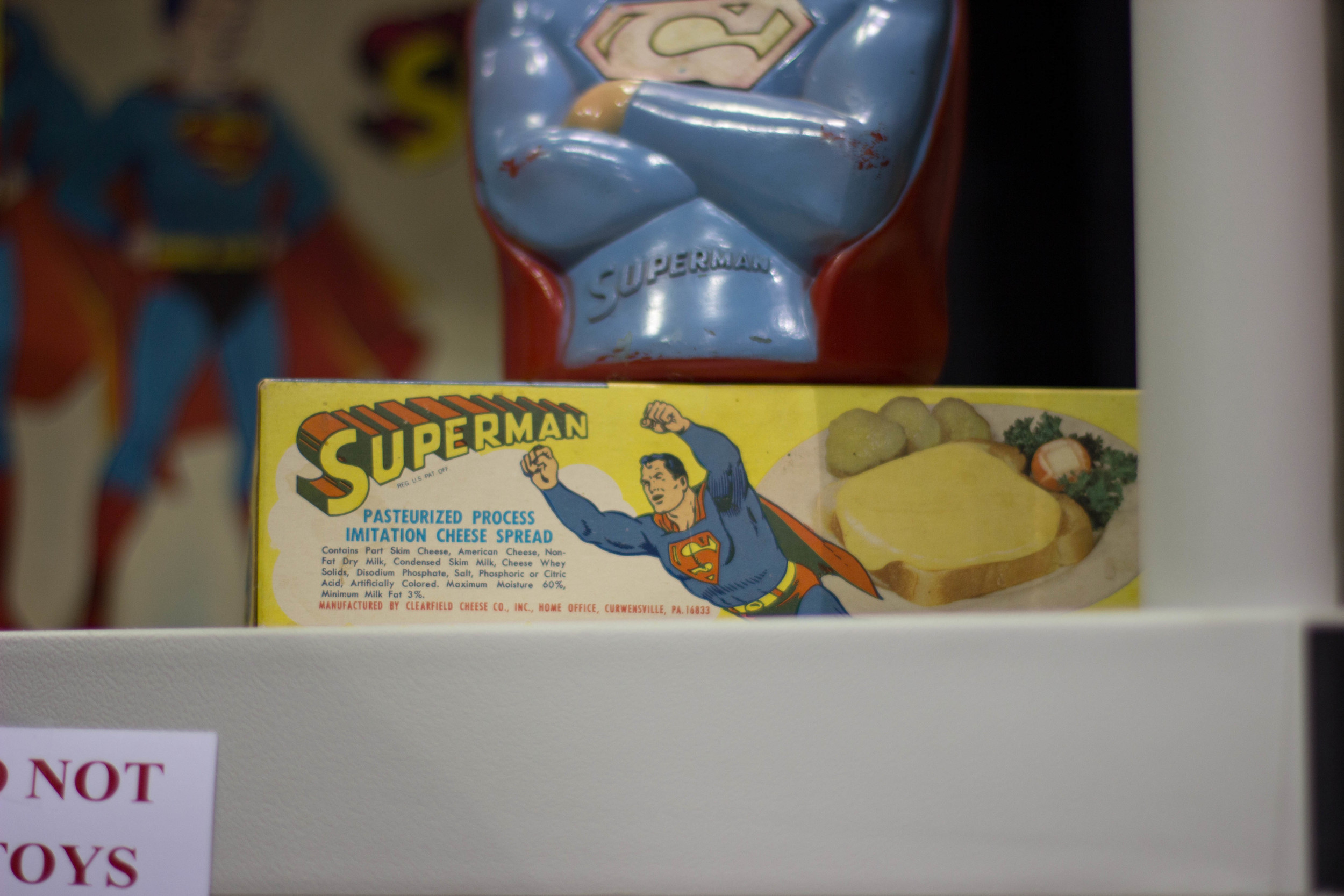 Finally, Superman found the pasteurized process imitation cheese spread worthy of the Superman name
