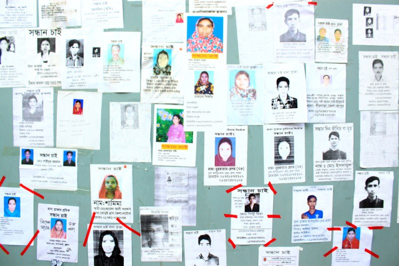 Photos of the missing posted by family members during the rescue operation