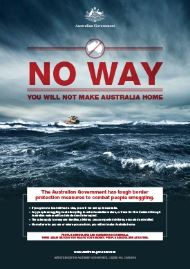 Government poster as part of Operation Sovereign Borders