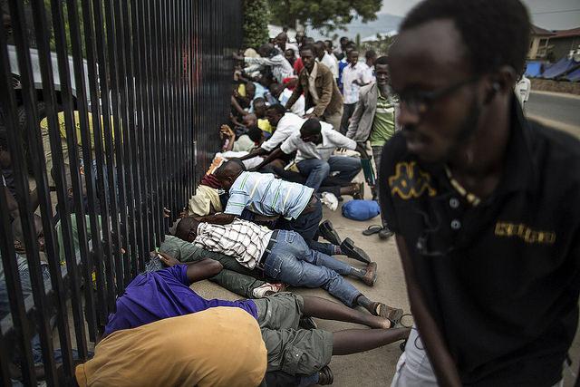 Students in Burundi try to take refuge at US Embassy | Photo credit:  AFP/Marco Longari