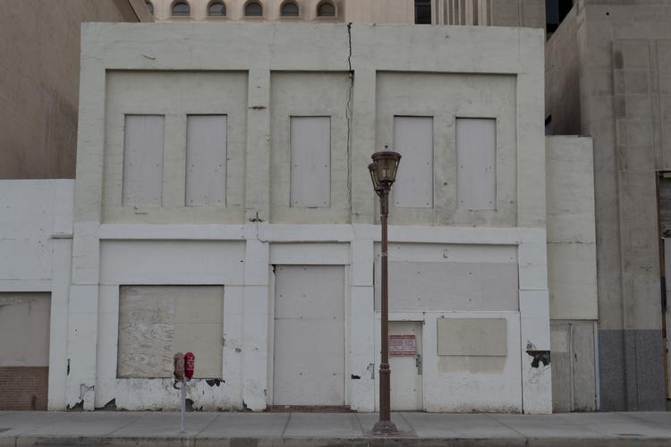 White Building 20 x 30 Print $150  (free shipping)