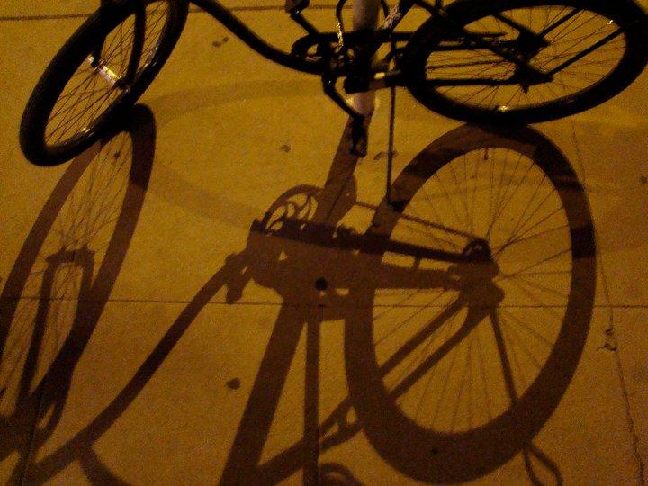 Bike Shadow 20 x 24 Print $50  (free shipping)