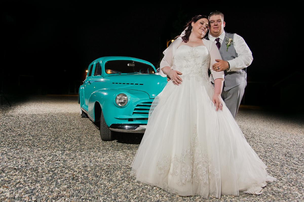 classic-vintage-car-wedding-night-willow-creek-events