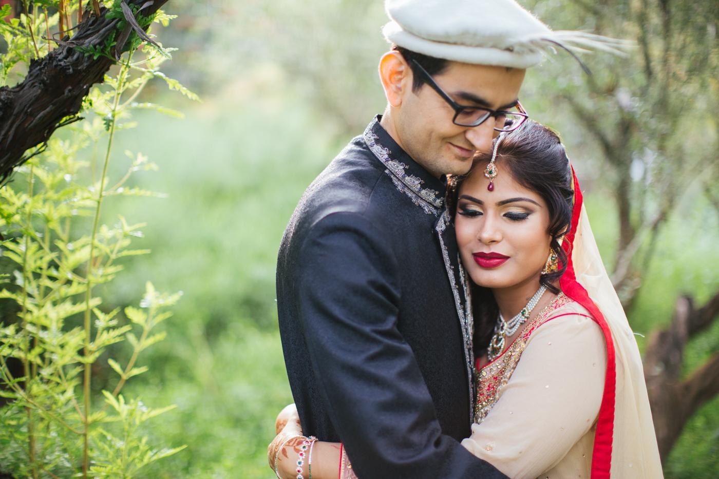 Indian sikh wedding in UC Davis Arboretum during the Autumn season