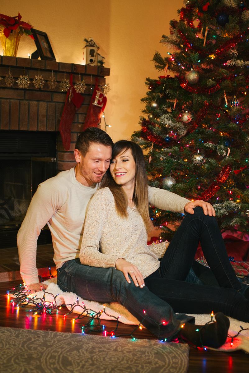 Sacramento portrait Christmas tree indoor photographer