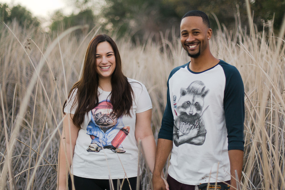 Custom cute funny shirts for engagement photos.jpg