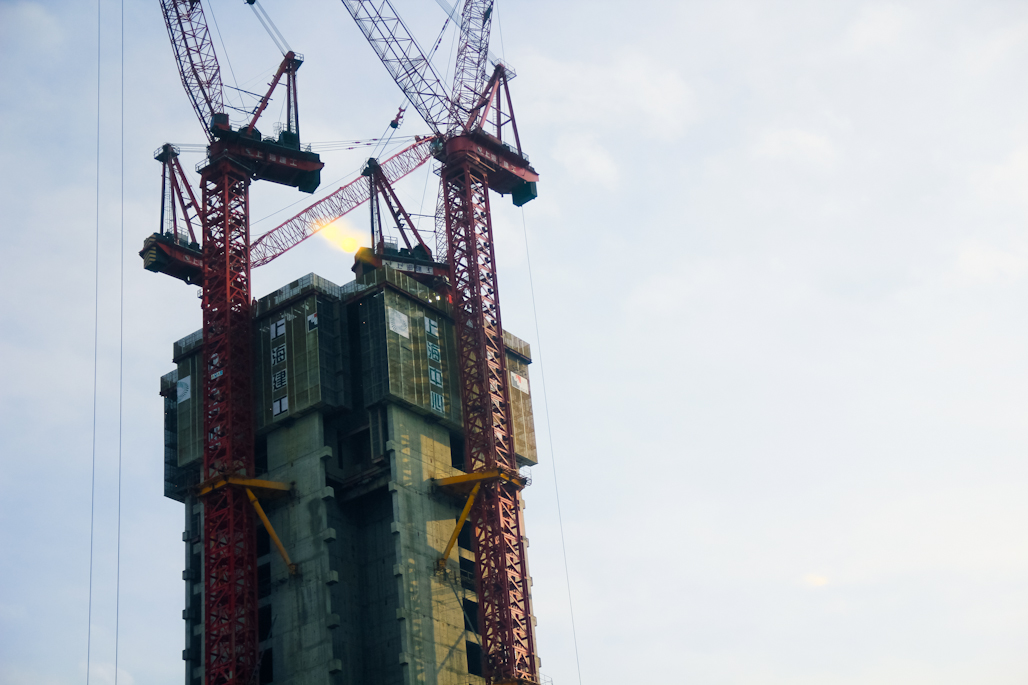 Soon to be the tallest building in Shanghai