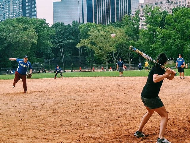 #Softball in Central Park #nyc