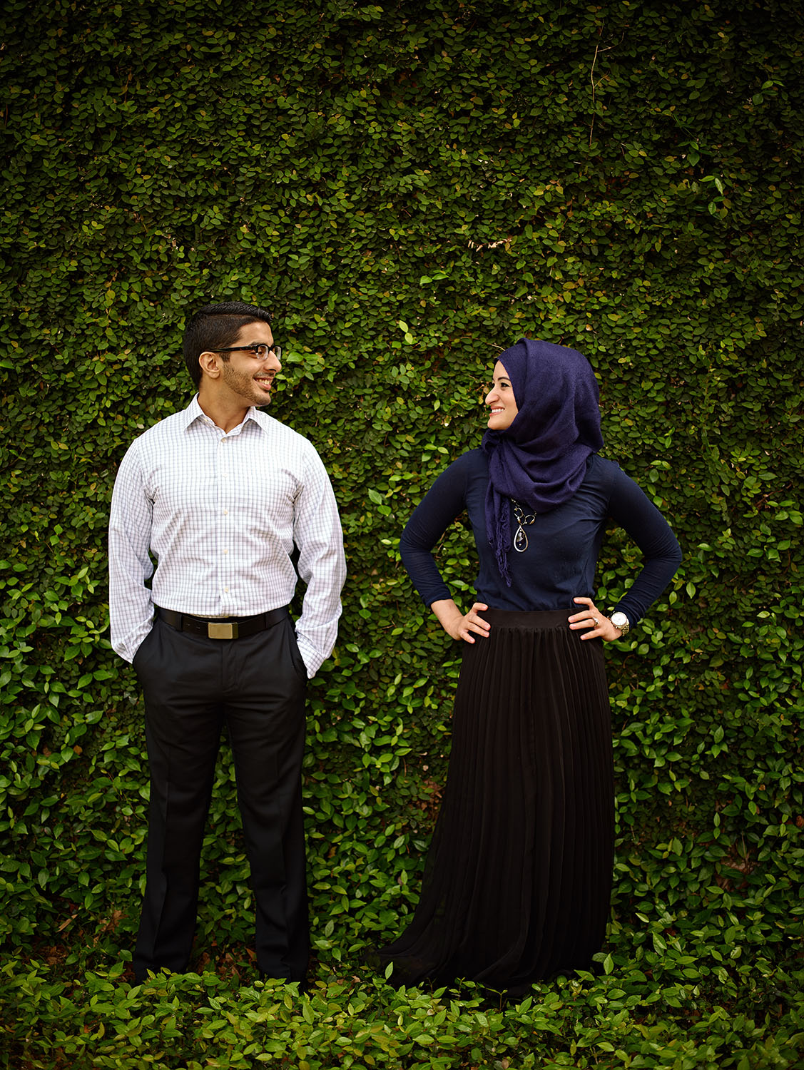 Husna and Rizwan at Rice University in Houston, TX