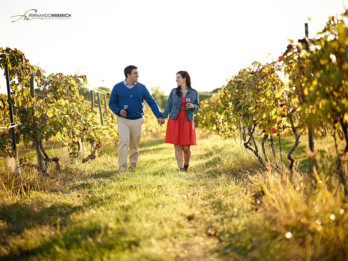 Messina Hof Winery in College Station is an awesome place for engagement photos.