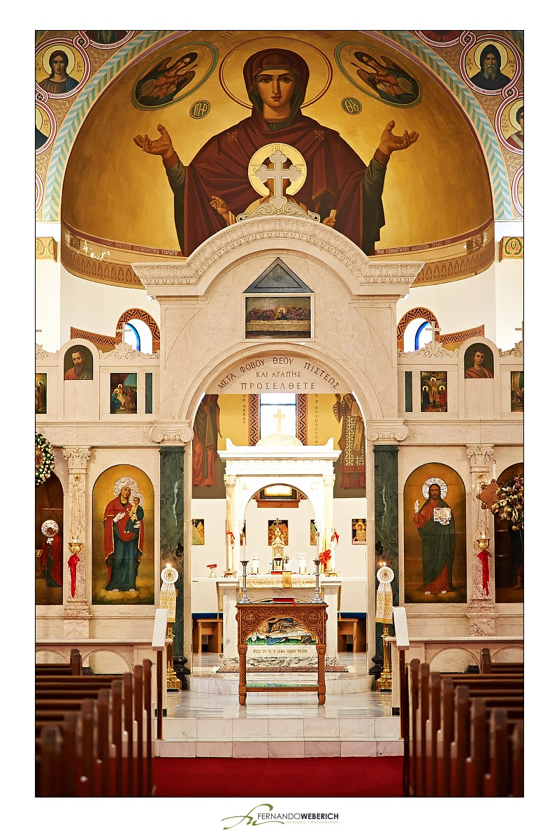 Inside of the Annunciation Greek Orthodox Cathedral.