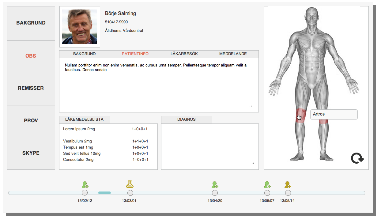 Produced prototype: Visual medical journal, to improve doctor-patient dialogue