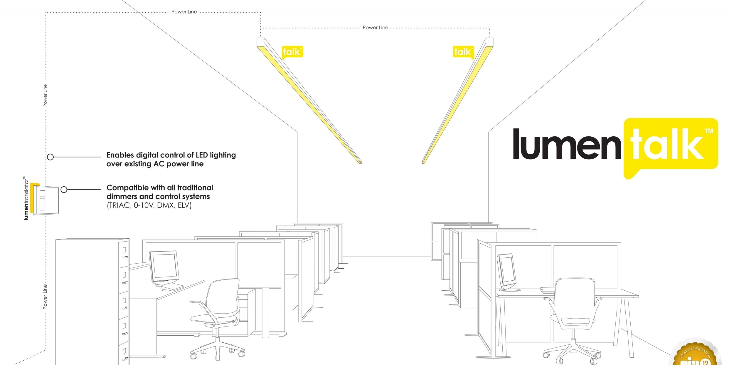 Luemnpulse offer a unique method of embedding lighting control signals in mains wiring, ideal for heritage buildings, floodlighting, street lighting etc, any project where changing wiring is difficult or expensive.