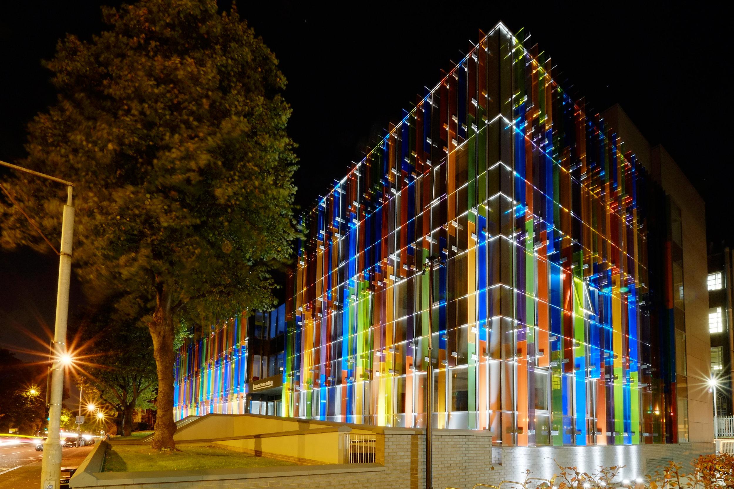 Bernard Crossland Building:  Exterior brise-soleil
